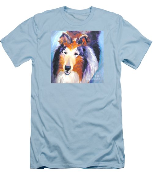 Collie Sable Rough 2 Men's T-Shirt (Athletic Fit)