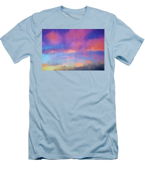 Color Abstraction Xlviii - Sunset Men's T-Shirt (Slim Fit) by Dave Gordon
