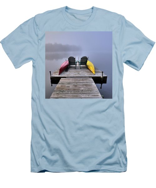 Men's T-Shirt (Athletic Fit) featuring the photograph Color In The Fog by David Patterson