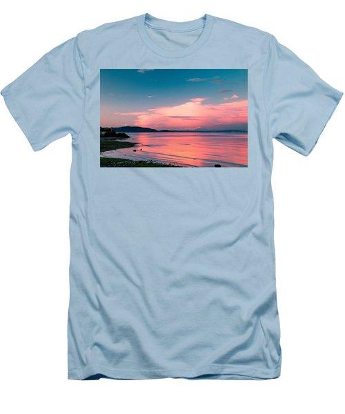Men's T-Shirt (Slim Fit) featuring the photograph Color Me Pink by E Faithe Lester