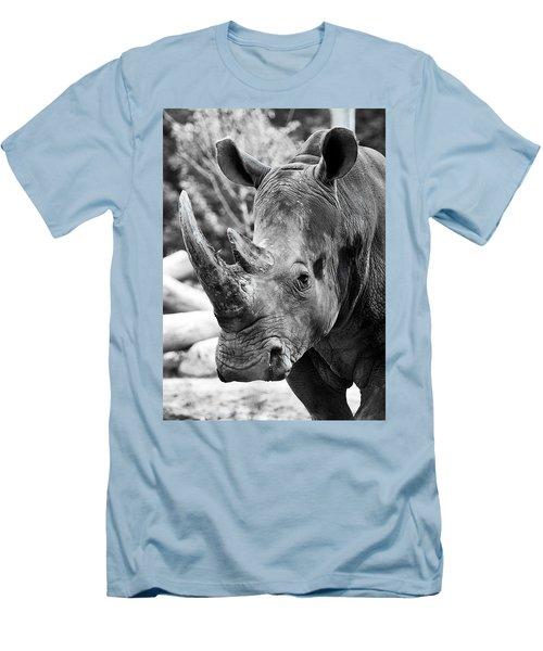 Men's T-Shirt (Slim Fit) featuring the photograph Color Me Rhino by John Haldane