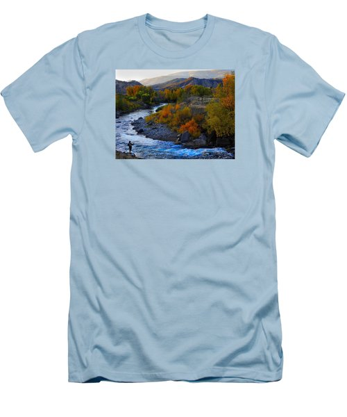 Color On The Fly Men's T-Shirt (Slim Fit) by Laura Ragland