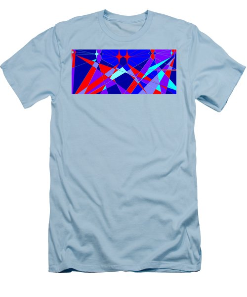 Colorful 1 Men's T-Shirt (Slim Fit) by Linda Velasquez