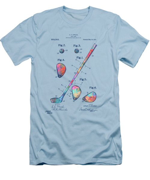 Colorful 1910 Golf Club Patent Men's T-Shirt (Athletic Fit)