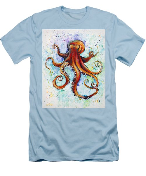 Colorful Ink Men's T-Shirt (Slim Fit) by Arleana Holtzmann