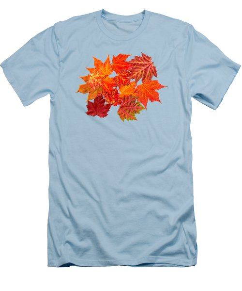Colorful Maple Leaves Men's T-Shirt (Slim Fit) by Christina Rollo