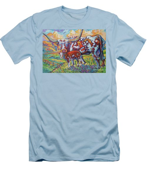 Men's T-Shirt (Slim Fit) featuring the painting Colorful Momma by Jenn Cunningham