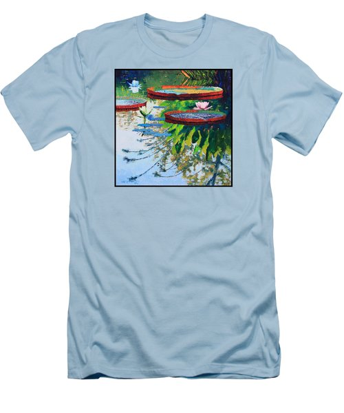 Colorful Reflections Men's T-Shirt (Slim Fit) by John Lautermilch