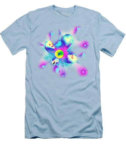 Men's T-Shirt (Slim Fit) featuring the digital art Colorful Splash by Anastasiya Malakhova