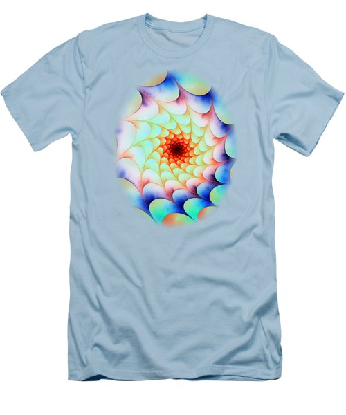 Men's T-Shirt (Slim Fit) featuring the digital art Colorful Web by Anastasiya Malakhova