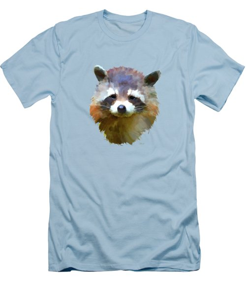 Colourful Raccoon Men's T-Shirt (Athletic Fit)
