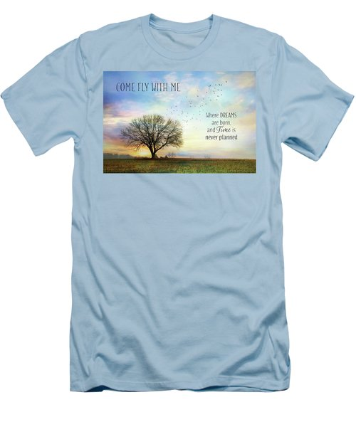 Men's T-Shirt (Slim Fit) featuring the photograph Come Fly With Me by Lori Deiter