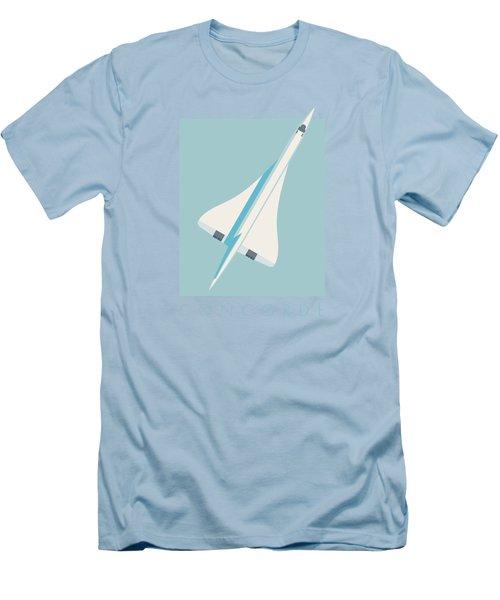 Concorde Jet Airliner - Sky Men's T-Shirt (Slim Fit)