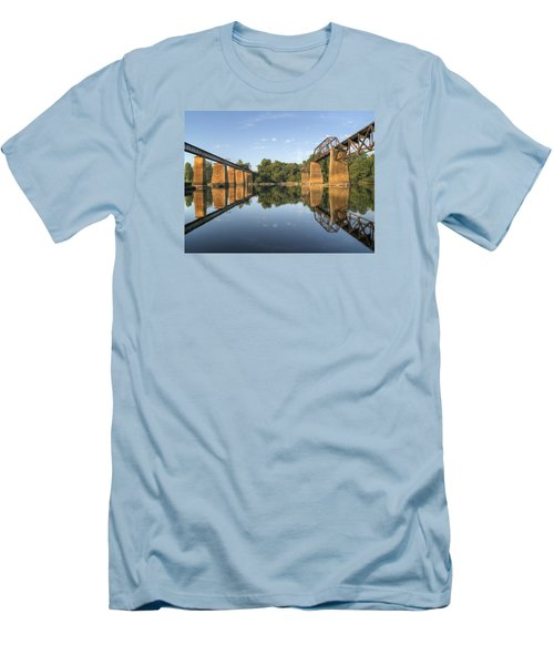 Congaree River Rr Trestles - 1 Men's T-Shirt (Slim Fit) by Charles Hite
