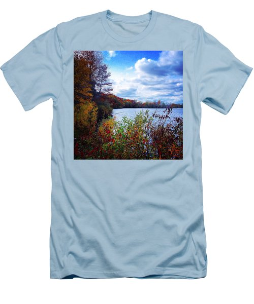 Conservation Park And Pine River In The Fall Men's T-Shirt (Athletic Fit)