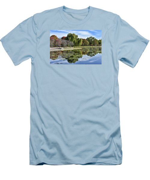 Constitution Gardens On The National Mall Men's T-Shirt (Athletic Fit)