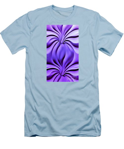 Men's T-Shirt (Slim Fit) featuring the photograph Contemplation In Purple by Roberta Byram
