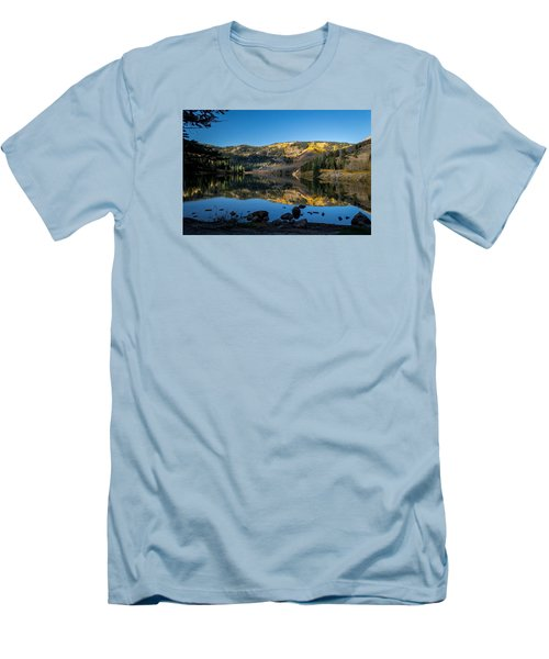 Contract Lake Fall Morning Men's T-Shirt (Slim Fit) by Michael J Bauer