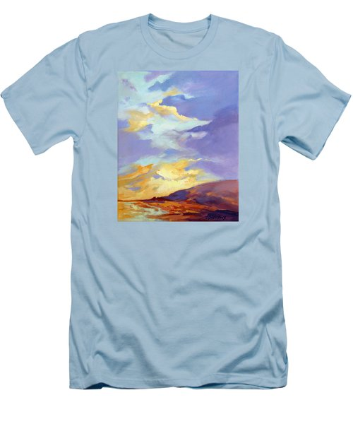 Men's T-Shirt (Slim Fit) featuring the painting Convergence by Rae Andrews