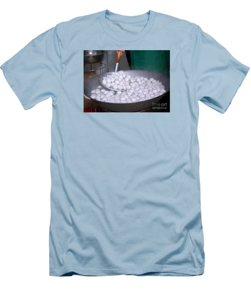 Cooking Chinese Fish Balls Men's T-Shirt (Slim Fit)