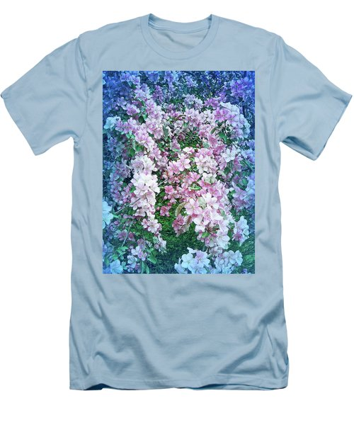 Men's T-Shirt (Athletic Fit) featuring the photograph Cool Blue Beautiful Blossoms by Aimee L Maher Photography and Art Visit ALMGallerydotcom