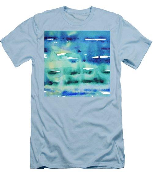 Cool Watercolor Men's T-Shirt (Athletic Fit)
