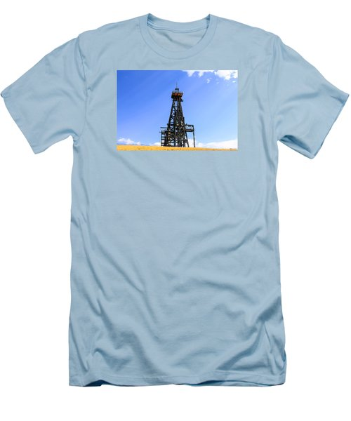 Copper Mine In Montana Men's T-Shirt (Slim Fit) by Chris Smith