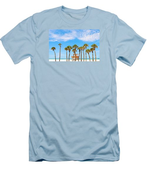 Men's T-Shirt (Slim Fit) featuring the photograph Coquina Beach Anna Maria Island by Margie Amberge