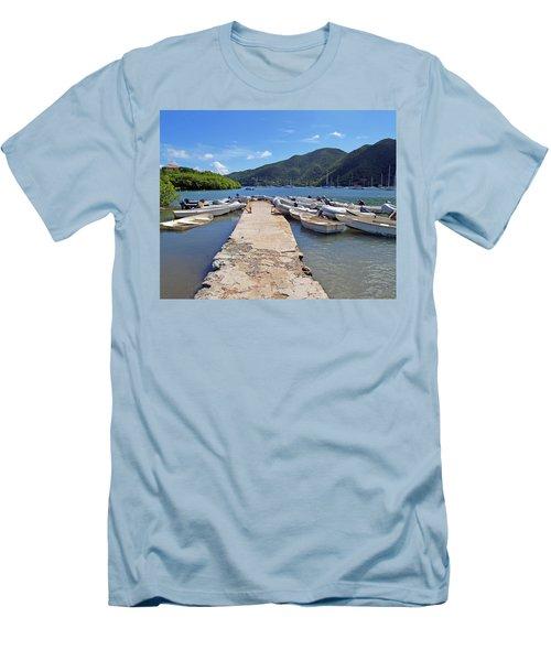 Coral Bay Dinghy Dock Men's T-Shirt (Athletic Fit)