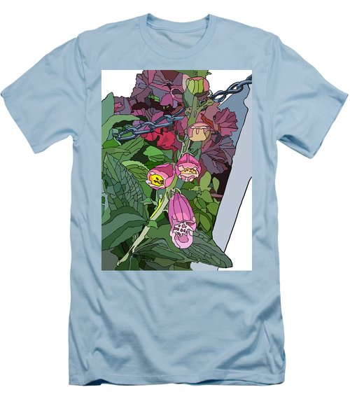 Coral Bells In The Garden Men's T-Shirt (Athletic Fit)