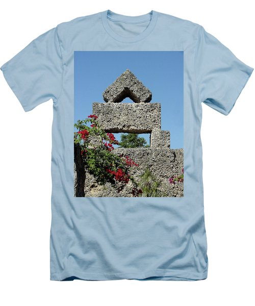 Coral Castle For Love Men's T-Shirt (Slim Fit) by Shirley Heyn