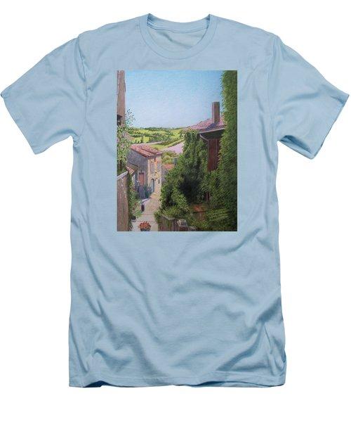 Cordes Sur Ciel Men's T-Shirt (Slim Fit) by Constance DRESCHER