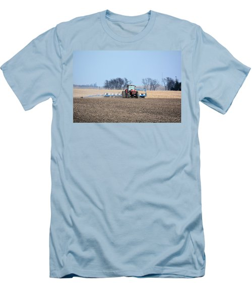 Corn Planting Men's T-Shirt (Slim Fit) by Bonfire Photography
