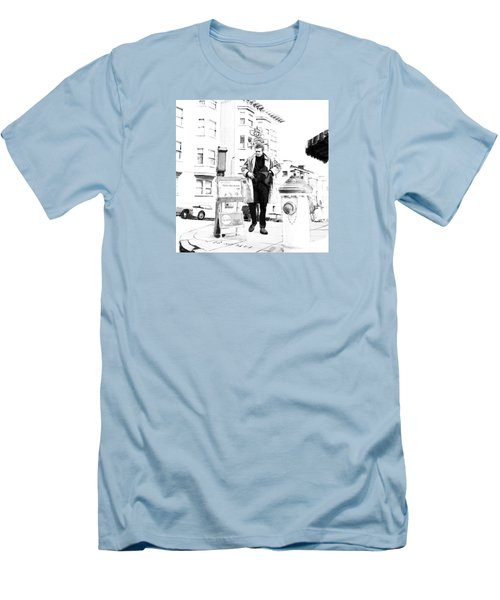 Corner Of Clay And Taylor Men's T-Shirt (Slim Fit) by Kurt Ramschissel