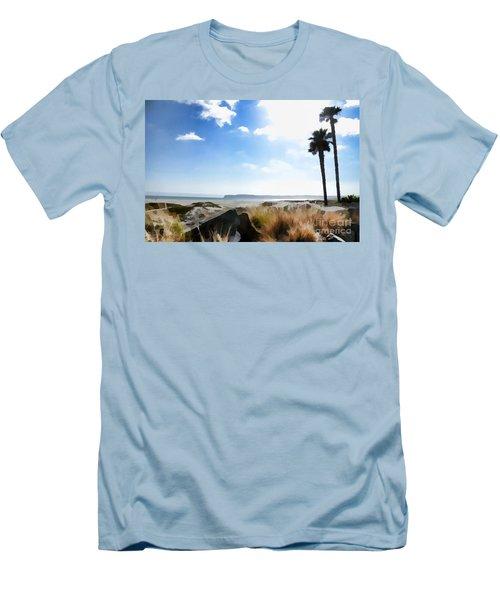 Coronado - Digital Painting Men's T-Shirt (Slim Fit) by Sharon Soberon