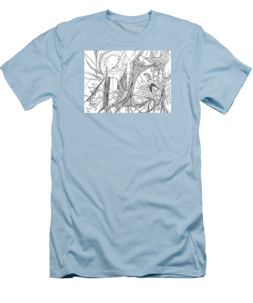 Cosmic Cornfield Men's T-Shirt (Slim Fit) by Charles Cater