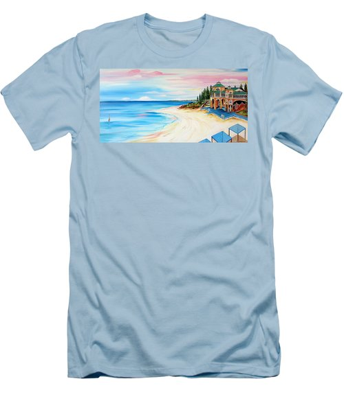 Cottesloe Beach Indiana Tea House Men's T-Shirt (Athletic Fit)