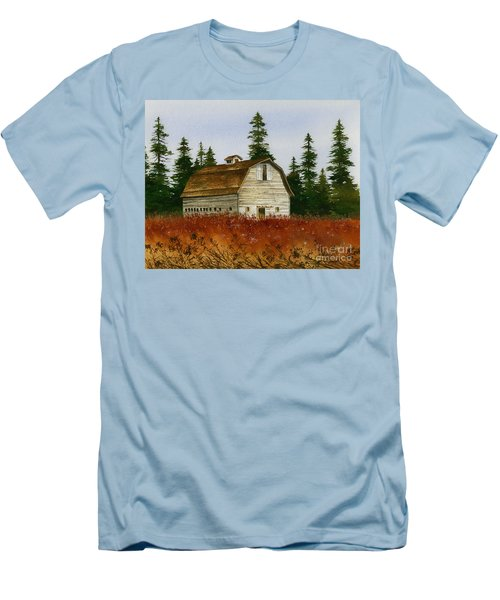 Men's T-Shirt (Slim Fit) featuring the painting Country Landscape by James Williamson