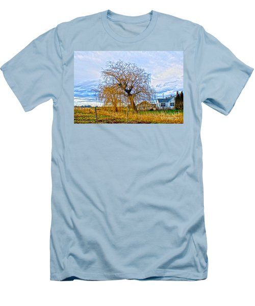 Men's T-Shirt (Athletic Fit) featuring the photograph Country Life Artististic Rendering by Clayton Bruster