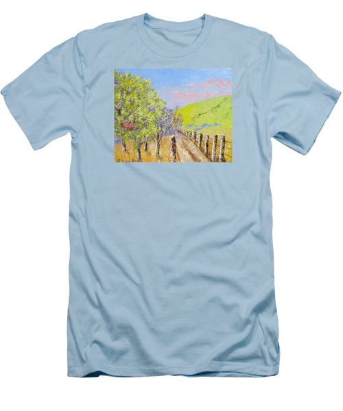 Country Road Pallet Knife Men's T-Shirt (Slim Fit) by Lisa Boyd