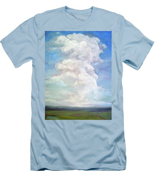 Men's T-Shirt (Slim Fit) featuring the painting Country Sky - Painting by Linda Apple