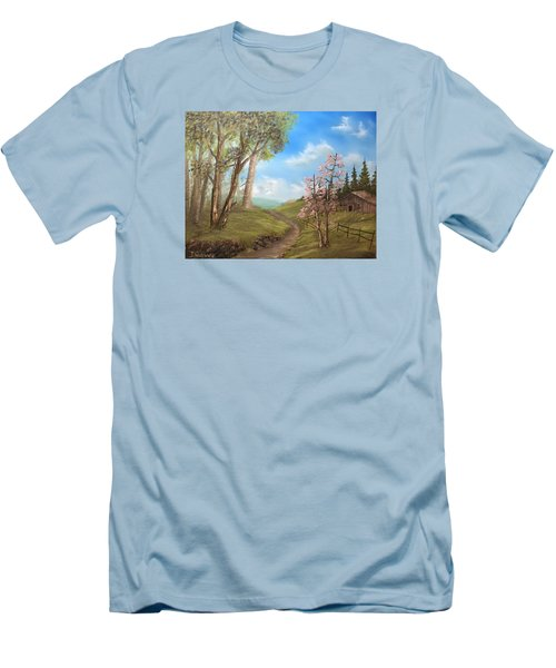 Country Valley  Men's T-Shirt (Athletic Fit)