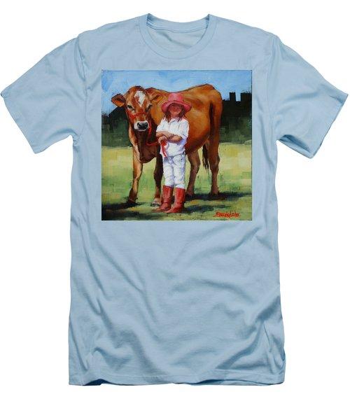 Cowgirl Besties Men's T-Shirt (Slim Fit) by Margaret Stockdale