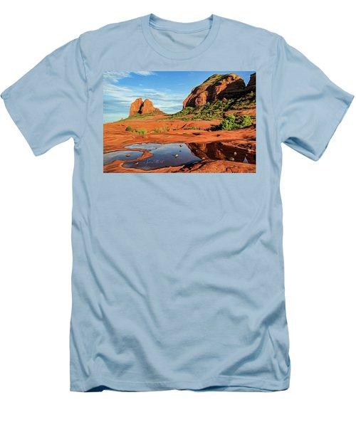 Cowpie 07-101 Men's T-Shirt (Slim Fit) by Scott McAllister