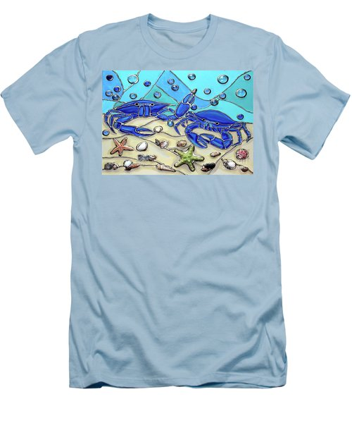 Crab Conversation Men's T-Shirt (Athletic Fit)