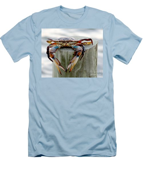 Men's T-Shirt (Slim Fit) featuring the photograph Crab Hanging Out by Luana K Perez
