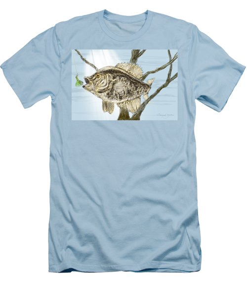 Crappie Time - 2 Men's T-Shirt (Slim Fit) by Barry Jones