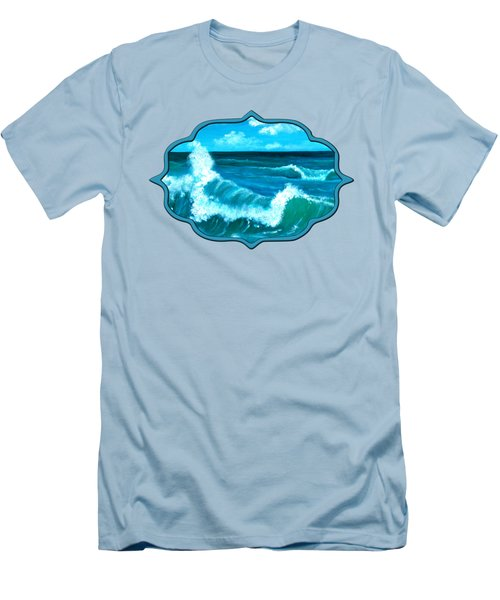 Men's T-Shirt (Slim Fit) featuring the painting Crashing Wave by Anastasiya Malakhova