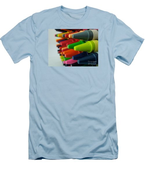 Men's T-Shirt (Slim Fit) featuring the photograph Crayons by Chad and Stacey Hall
