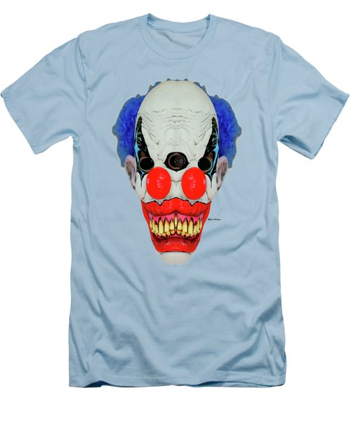 Creepy Clown Men's T-Shirt (Slim Fit) by Rafael Salazar